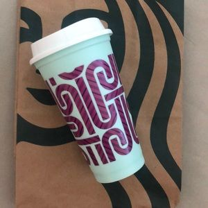 Starbucks candy cane holiday color changing cup